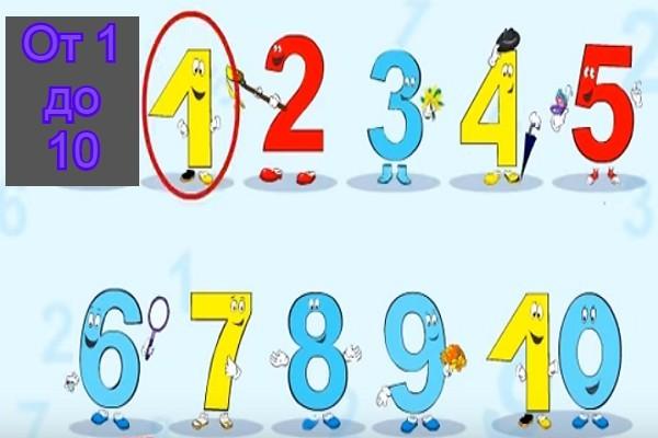 Стихи про цифры от Одного до Десяти