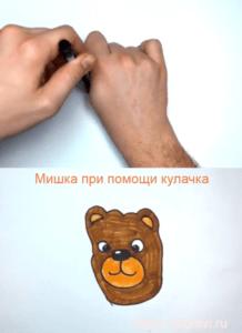 Мишка при помощи кулачка