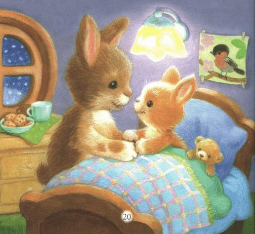 В одном лесу жили обыкновенные зайчики — зайка-папа и зайка-мама. Они жили в маленьком уютном домике, который они называли норкой. Там у круглого окошка стояла крошечная детская кроватка, в которой обычно спал их маленький зайчонок Скок.