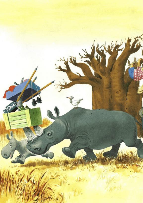 Однажды носорог Суу-Тыр с раннего утра размышлял, чем бы ему таким интересным заняться.