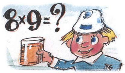 Восемью девять? — спросил Минус и налил воды в стакан. Она так и шипела, так и покрывалась пузырьками! — Семьдесят шесть! — выпалил я, надеясь, что попаду.